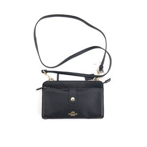 Coach Convertible Pop-up Messenger Leather Pouch